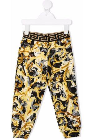 Versace Kids Baroque-print track pants