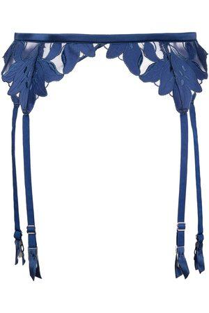 FLEUR DU MAL Women Underwear Accessories - Lily embroidered garter belt