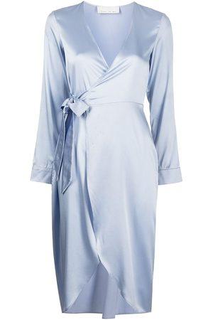 FLEUR DU MAL Wrap-tie stretch silk robe