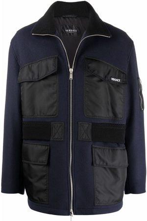 Versace Flap-pocket zipped jacket