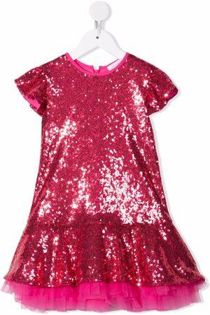 Monnalisa Sequin-embellished dress
