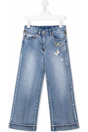 Monnalisa Mid-rise flared jeans