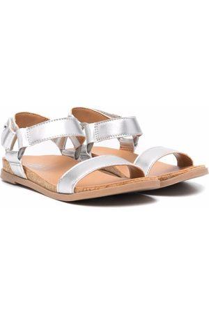 UGG Kids Metallic leather-strap sandals