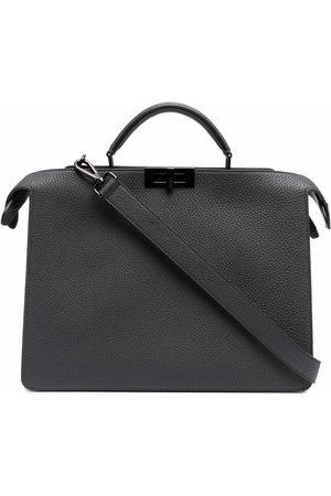 Fendi Twist-lock briefcase - Grey