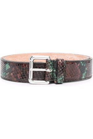 Etro Snakeskin-effect belt