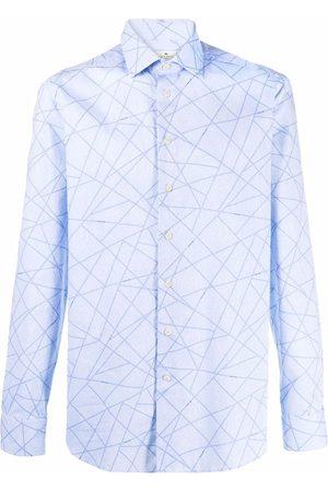 Etro Men Shirts - Stripe-pattern paisley shirt