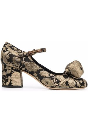 Etro Floral-embroidered mid-heel pumps
