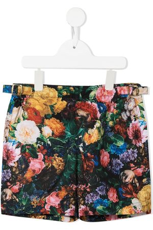 ORLEBAR BROWN KIDS All-over floral-print swim shorts - Multicolour