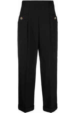 Sandro Women Pants - High-waisted cropped trousers