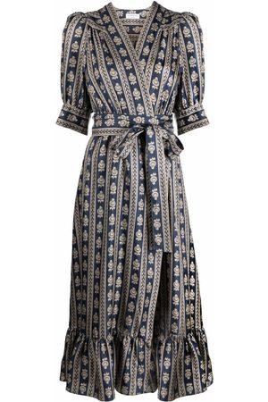 Sandro Women Printed Dresses - Motif-print V-neck dress - Neutrals