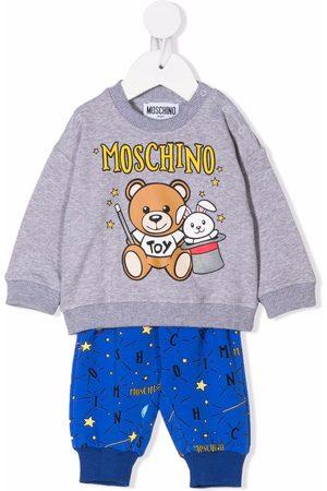 Moschino Kids Logo tracksuit set - Grey