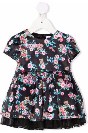 Moschino Kids Floral logo-print dress