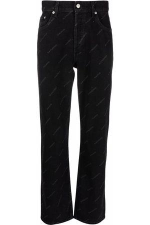 Sandro Diagonal logo print jeans