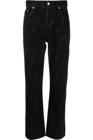 Sandro Paris Men Straight - Diagonal logo print jeans