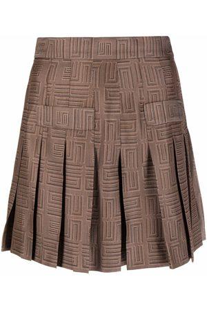 Sandro Paris Women Shorts - High-waisted motif-print shorts