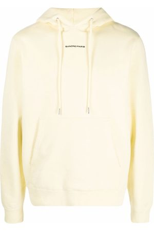 Sandro Embroidered-logo cotton hoodie