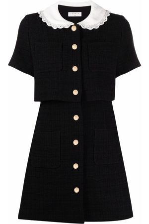 Sandro Paris Women Dresses - Contrast-collar short dress