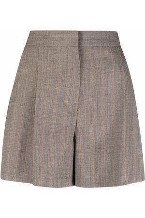 Sandro Paris High-waisted pressed-crease shorts - Neutrals