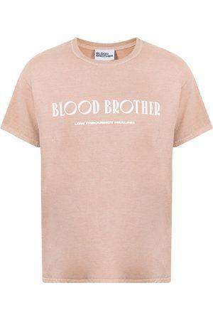 Blood Brother Brooklyn Bridge print T-shirt - Neutrals