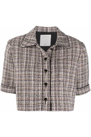 Sandro Paris Women Jackets - Glwadys cropped tweed jacket - Neutrals