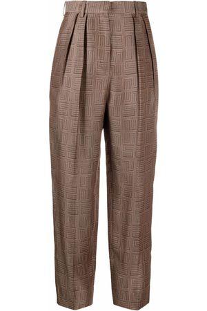 Sandro Paris Women Pants - High-waisted tapered-leg trousers