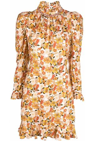 Sandro Paris Floral-print Grace dress - Neutrals