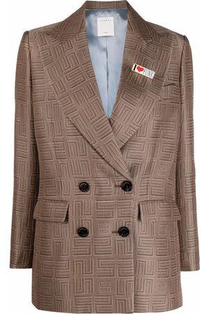 Sandro Paris Women Blazers - Peak-lapel double-breasted blazer