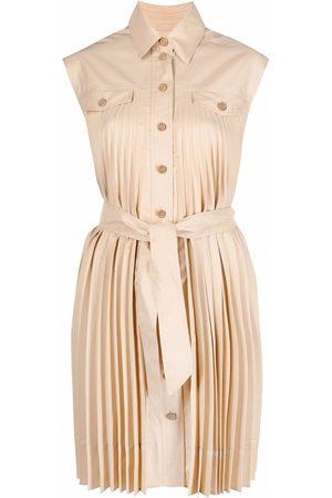 Sandro Alice pleated shirt dress - Neutrals
