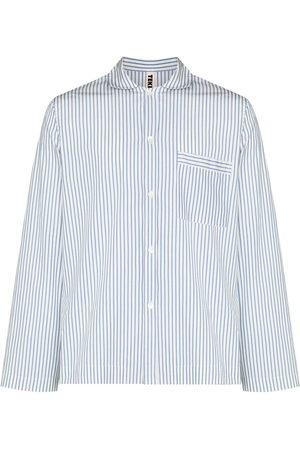 TEKLA Men Pajamas - Striped poplin pajama shirt