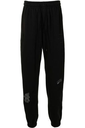 Stampd Eroded-embroidered sweatpants