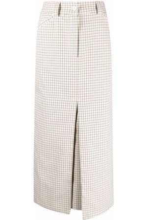 Sunnei Checked midi skirt - Neutrals