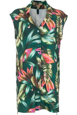 Lygia & Nanny Leaf print shirt dress