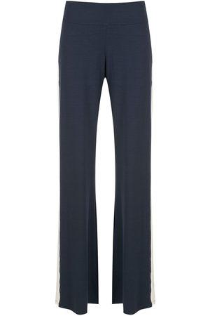 Lygia & Nanny Flared side-stripe trousers