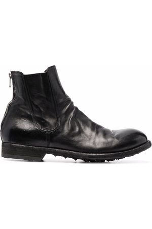 Officine Creative Men Ankle Boots - Polished-leather ankle boots