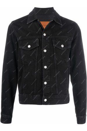 Sandro Paris Logo-print denim jacket