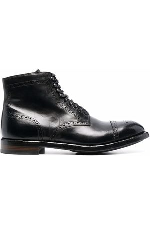 Officine Creative Men Ankle Boots - Brogue-detail leather ankle boots