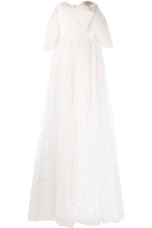 Tadashi Shoji Off-shoulder bridal dress - Neutrals