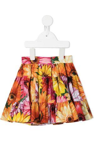 Dolce & Gabbana Kids Floral-print flared skirt - Multicolour