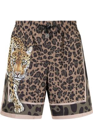 Dolce & Gabbana Men Swim Shorts - Graphic-print swim shorts