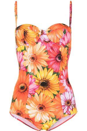 Dolce & Gabbana Floral-print swimsuit - Multicolour