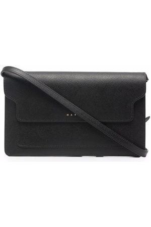 Marni Debossed-logo leather clutch
