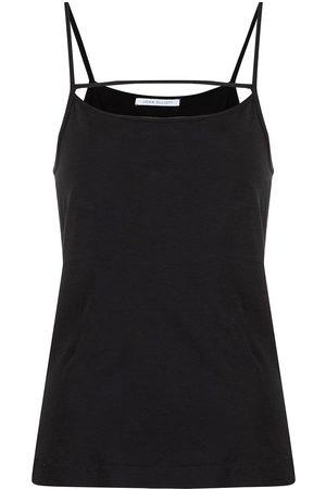 John Elliott Strap-detail cotton sleeveless top