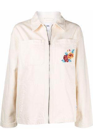 Vans Women Denim Jackets - Floral-pocket jacket - Neutrals