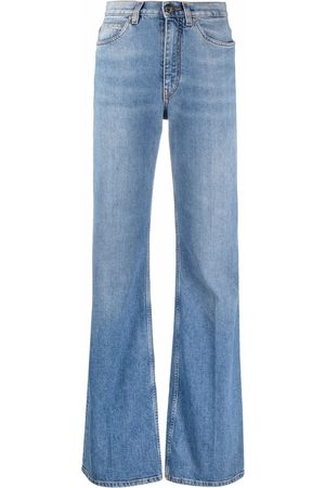 Etro Women High Waisted - High-waisted flare-cuff jeans