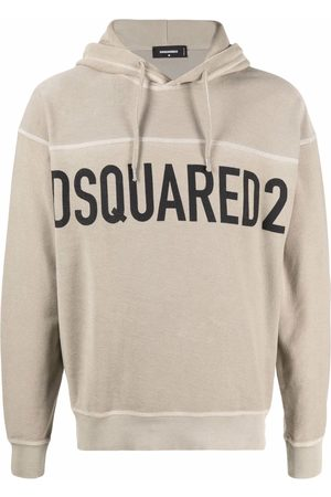 Dsquared2 Men Hoodies - Logo-print hoodie - Neutrals