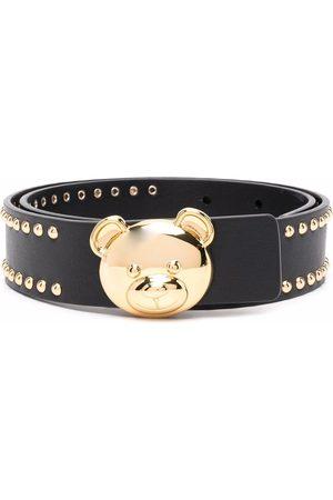 Moschino Bear-motif studded belt