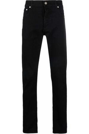 Alexander McQueen Logo-print slim-cut jeans