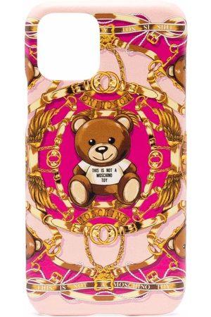 Moschino Women Phones Cases - Teddy bear-print Iphone 11 Pro case