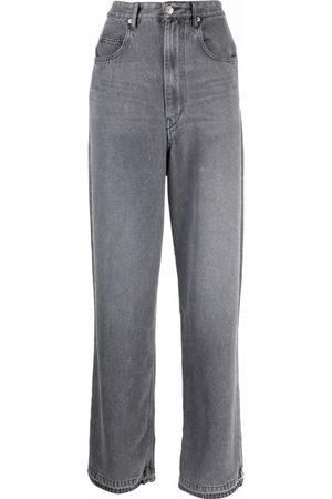 Isabel Marant Étoile High-rise straight-leg jeans - Grey