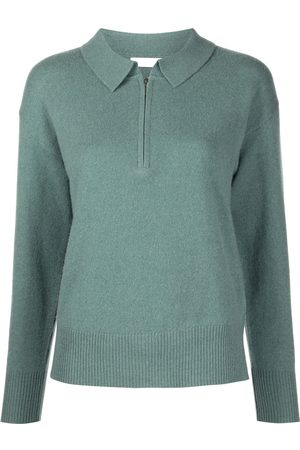 SABLYN Long-sleeve cashmere polo top